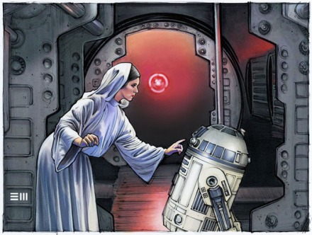 princess_leia_and_r2_d2_concept_sketch_by_erik_maell-db57h5a
